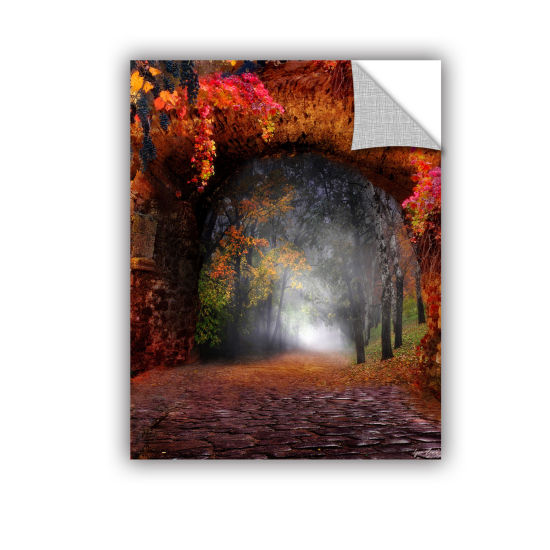 Brushstone Autumn Road Removable Wall Decal