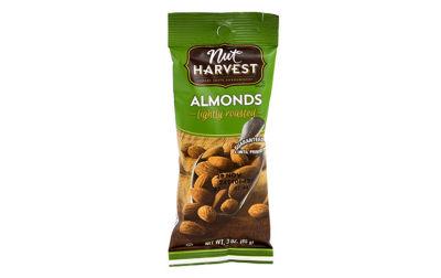 Nut Harvest Lightly Roasted Almonds 3oz 8 Pack
