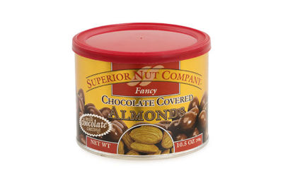 Superior Nut Fancy Chocolate Covered Almonds 10.5oz 12 Count