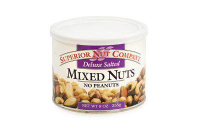 Superior Nut Deluxe Salted Mixed Nuts w/ No Peanuts 9oz 12 Count