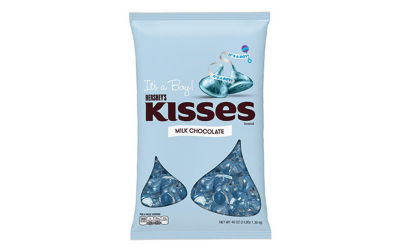"KISSES ""It's A Boy!"" Milk Chocolates 48oz"""