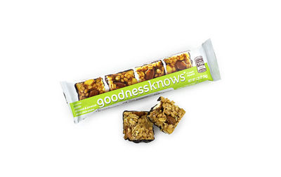 goodnessknows Apple Almond Peanut and Dark Chocolate Snack Squares 12Count Box