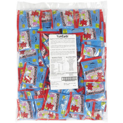 Organic Gummy Bear Snack Packs 50 Count
