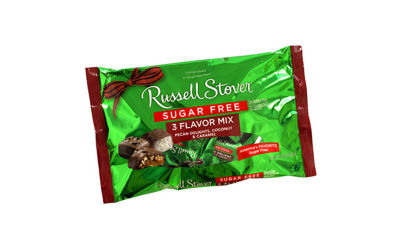 Russell Stover Sugar Free 3 Flavor Mix Pecan Delights Coconut and Caramel 10oz 2 Pack