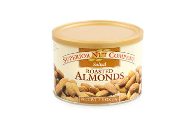 Superior Nut Salted Roasted Almonds 7.5oz 12 Count