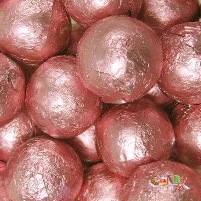 Foiled Solid Milk Light Pink Balls 1lb