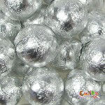 Foiled Solid Milk Silver Balls 1lb
