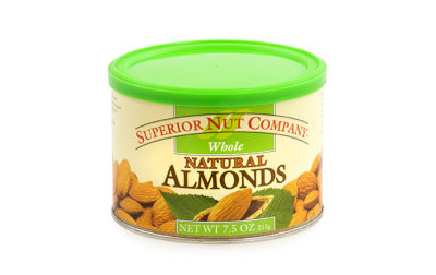 Superior Nut Whole Natural Almonds 7.5oz 12 Count