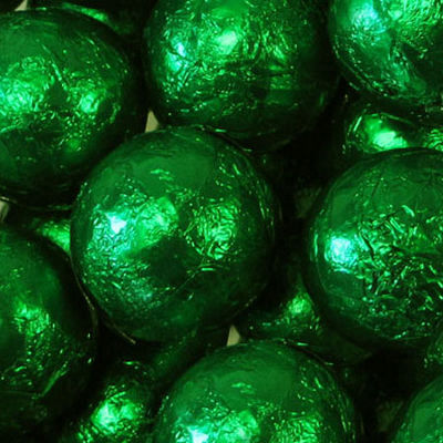 Foiled Solid Milk Green Balls 1lb