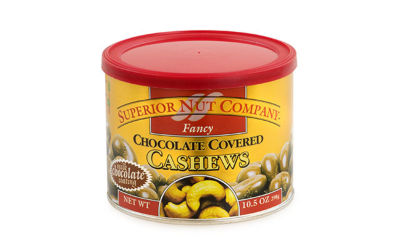 Superior Nut Fancy Chocolate Covered Cashews 10.5oz 12 Count