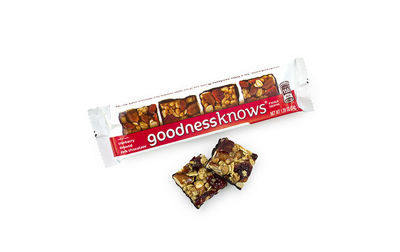 goodnessknows Cranberry Almond and Dark ChocolateSnack Squares 12Count Box