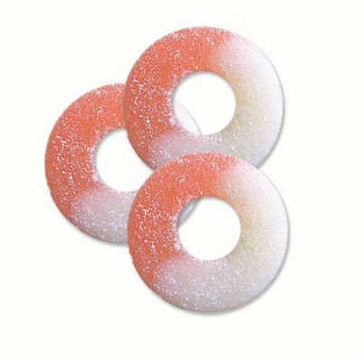 Watermelon Gummi Rings 1lb