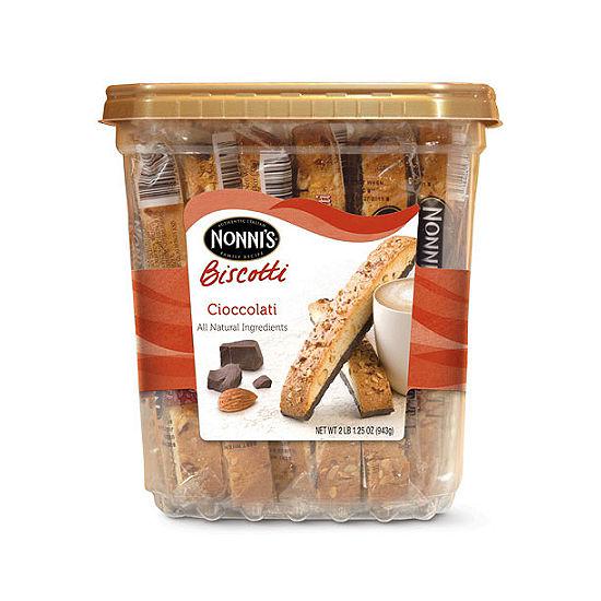 Nonni's Biscotti Cioccolati Tub 25 Count