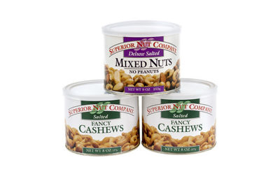 Superior Nut Deluxe Salted Mixed Nuts and Whole Cashews 9oz 3 Pack