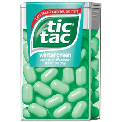 Tic Tac Wintergreen Singles 12 Count
