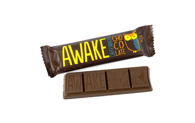 AWAKE Caffeinated Milk Chocolate Bars 12 Count