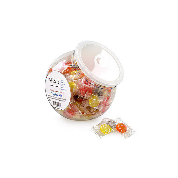 Eda's Tropical Mix Hard Candy SugarFree Tub 1lb