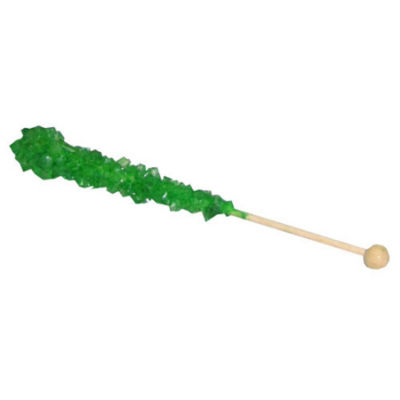 Green Apple Rock Candy Sticks 36 count
