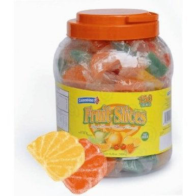 Individually Wrapped Assorted Fruit Slices Jar 150Count