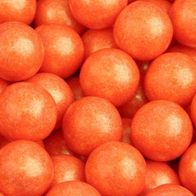 Orange Shimmer Gumballs 2lb