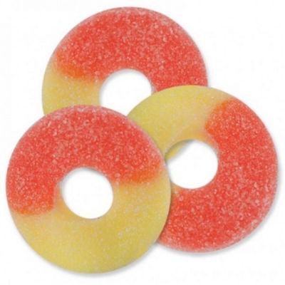 Peach Gummi Rings 4.5lb