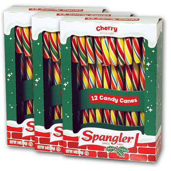Spangler Cherry Candy Canes 12 Count 3 Pack