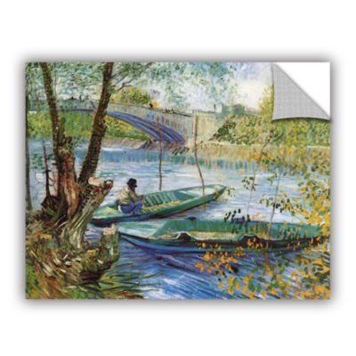 Brushstone Fishing In Spring; The Pont De Clichy (Asnieres) Removable Wall Decal