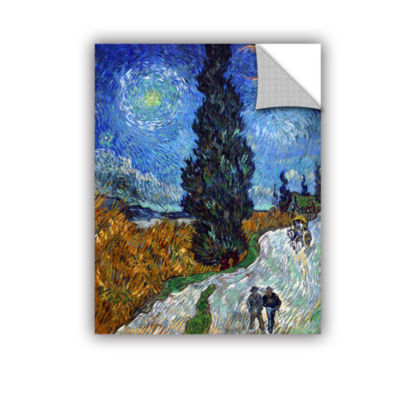 Brushstone Country Road In Provence Removable WallDecal