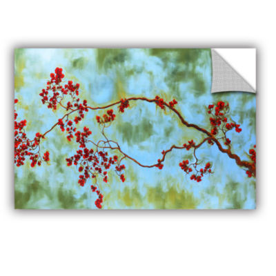 Brushstone Crimson Bough Removable Wall Decal