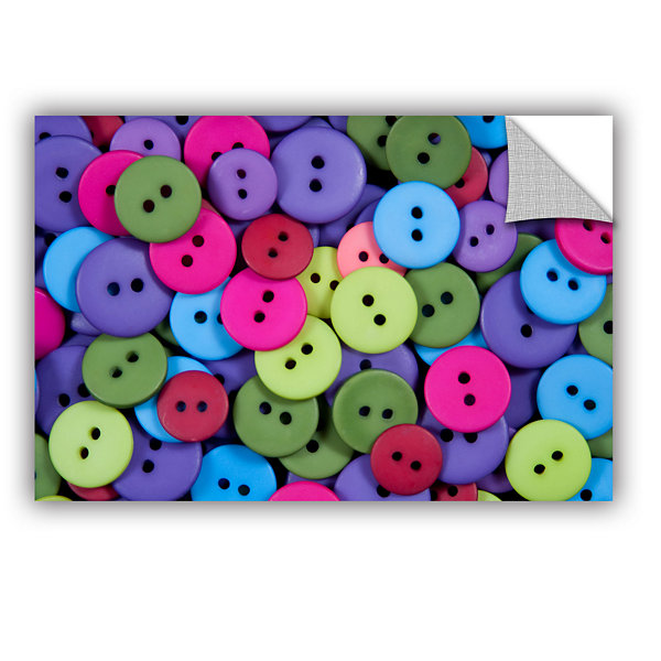 Brushstone Buttons Removable Wall Decal