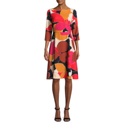 Tracee Ellis Ross for JCP Glorious Elbow Sleeve Fit & Flare Dress