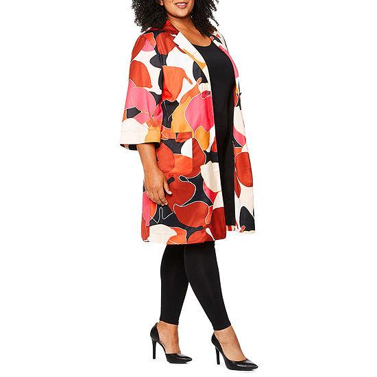 Tracee Ellis Ross for JCP Miracle Long Sleeve Kimono Jacket - Plus