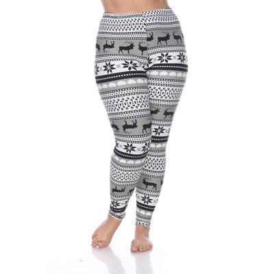 White Mark Womens Legging-Plus