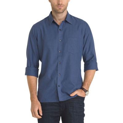 Van Heusen Long Sleeve Never Tuck Slim Fit Shirt