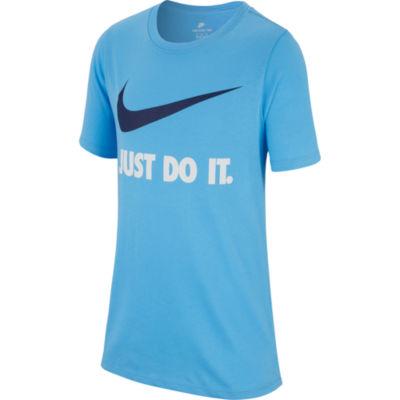 Nike Boys Crew Neck Short Sleeve Graphic T-Shirt-Big Kid