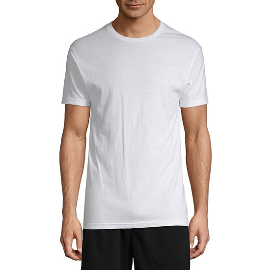 Stafford 4 Pair Dry+Cool Blended Crewneck T-Shirts