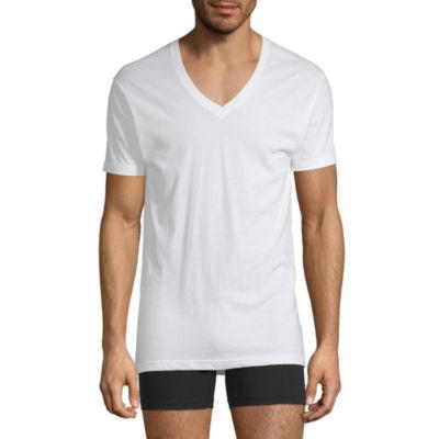Stafford 4 Pair Dri Cool V-Neck T-Shirts