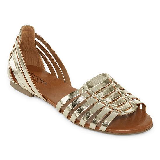 Arizona Womens Calva Slip-on Open Toe Ballet Flats