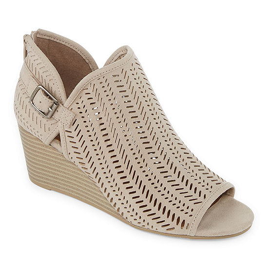 Arizona Womens Zanna Wedge Heel Buckle Booties