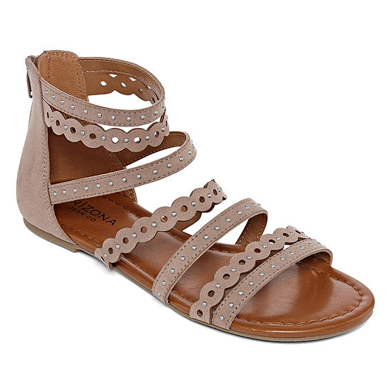 Arizona Womens Twinkle Ankle Strap Flat Sandals
