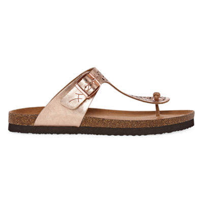 Arizona Penny Womens T-Strap Footbed Sandals