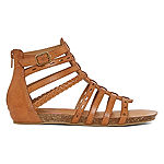 Pop Womens Kiwi Ankle Strap Flat Sandals
