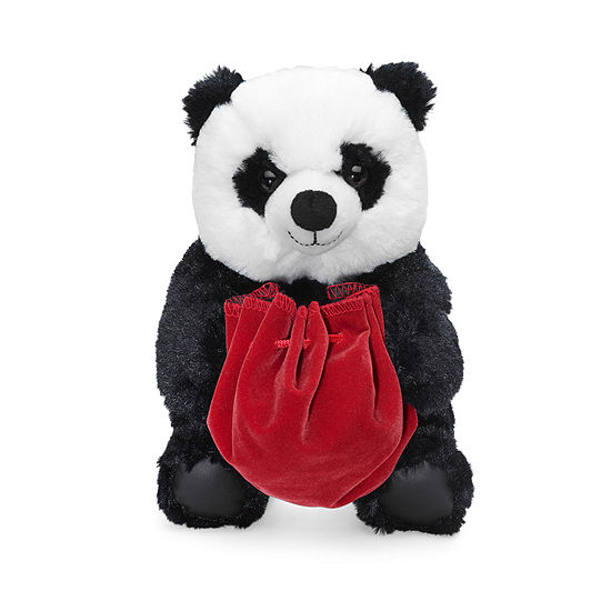 North Pole Trading Co. Plush Panda Jewelry Holder