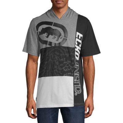 Ecko Unltd Mens Hooded Neck Short Sleeve T-Shirt