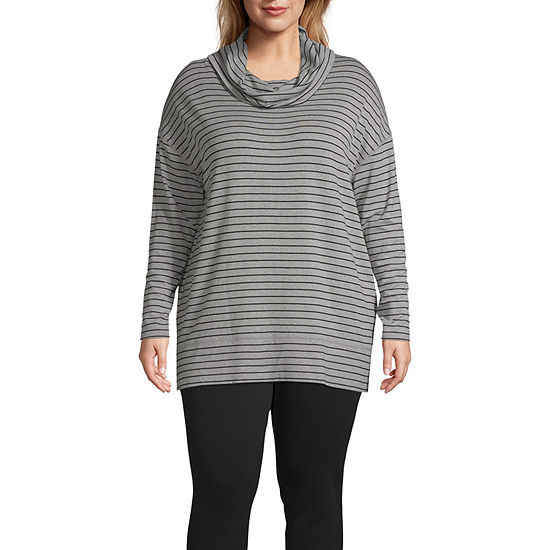Liz Claiborne Weekend Cowl Neck Tunic Plus