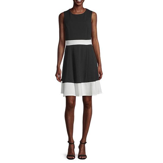 Studio 1 Sleeveless Colorblock Fit & Flare Dress