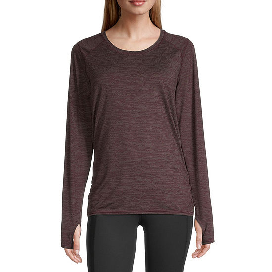 Xersion Womens Round Neck Long Sleeve T-Shirt