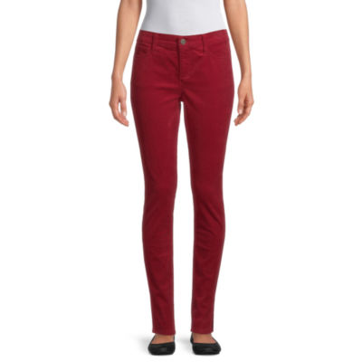 St. John's Bay Womens Mid Belly Rise Skinny Corduroy Pant