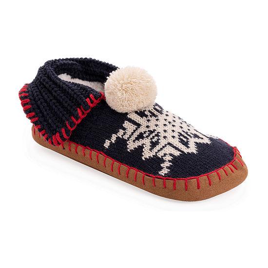 Muk Luks Knit Womens Moccasin Slippers