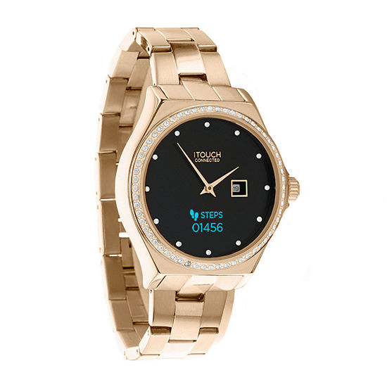 Itouch Connected Unisex Adult Rose Goldtone Stainless Steel Smart Watch-13887r-51-D29